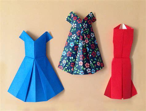 origami clothing for forty weeks crafts diy origami dresses