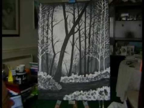 bob ross painting black and white bob ross of painting timelapse my attempt
