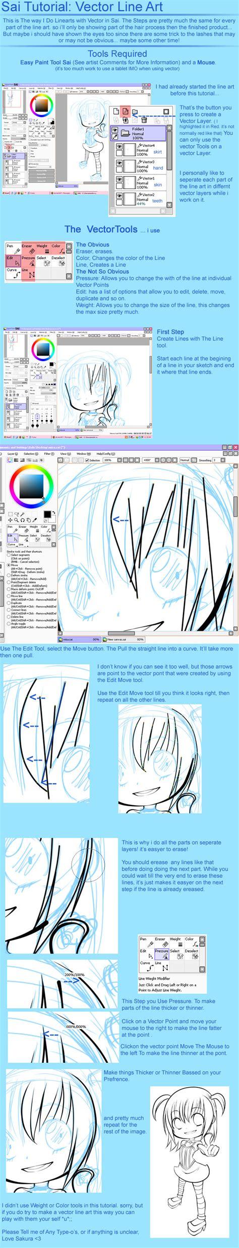 paint tool sai vector layer tutorial sai tutorial vector line by sakurachan776 on deviantart