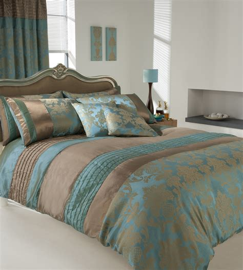 curtain and bedding sets uk luxury printed duvet cover pillow cases set teal uk ebay