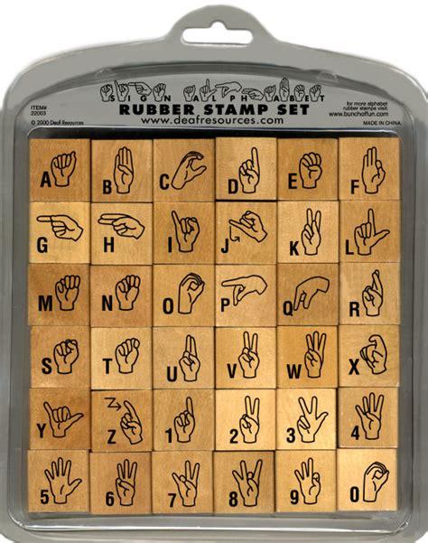 rubber letter st set asl sign language rubber sts
