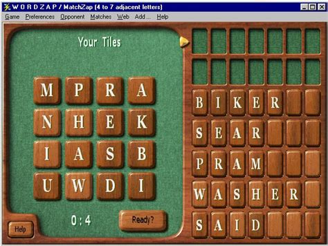 scrabble with computer opponent wordzap deluxe wordzap r 6 47 is a shareware word