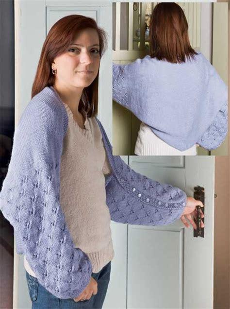 simple bolero knitting pattern easy shrug knitting patterns in the loop knitting