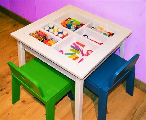 kid craft tables white arts and crafts play table diy projects