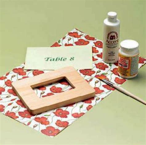 decoupage materials needed wedding invitations decoupage table number frame
