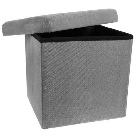 storage ottoman cube folding fabric square foot rest