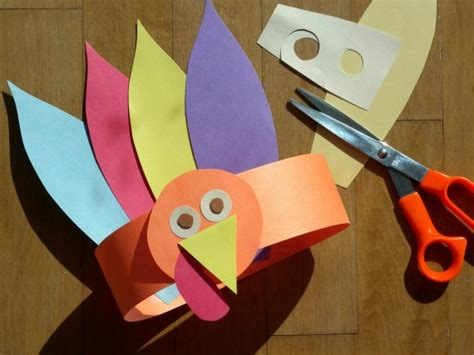 paper craft for kid original craft for to make a turkey photo