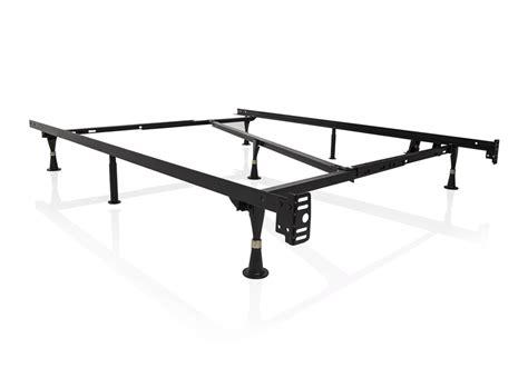 overstock metal bed frame 3 way adjustable metal bed frame with glides