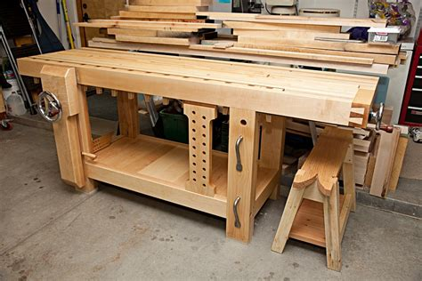 best woodworking workbench brian s benchcrafted split top roubo the wood whisperer
