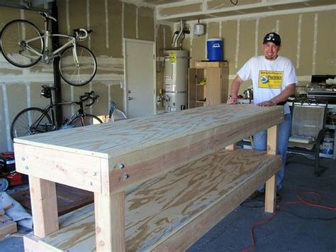 building a woodworking bench 17 best ideas about garage workbench on