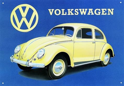 Volkswagen Sign In by Vw Beetle Tin Signs Metal Signs Sold At Europosters
