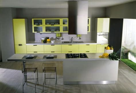 yellow kitchen decorating ideas modern yellow and grey kitchen ideas