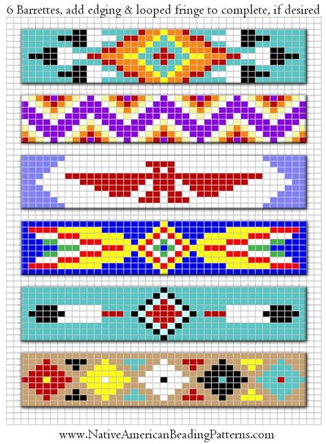 beading designs american beaded barrettes patterns