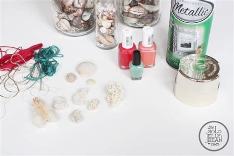 diy jewelry supplies jewelry diy with paint dipped coral and gold shells the