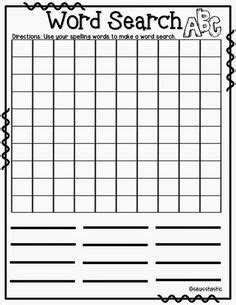 word finder for scrabble with blanks spelling activities a freebie make a wordsearch