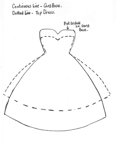 dress template for card srm stickers dress card tutorial by cathy a