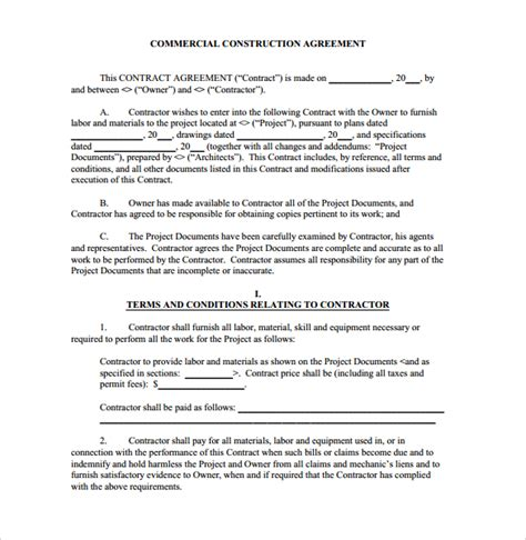 contract builder construction contract 9 documents in pdf