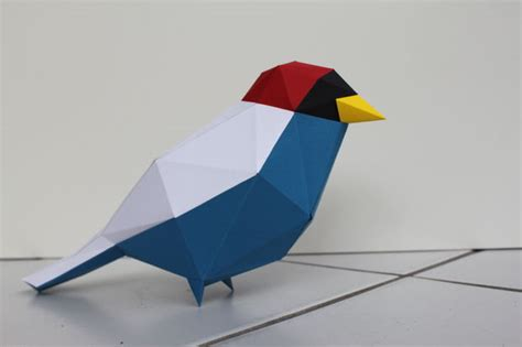paper craft bird papercraft low poly bird