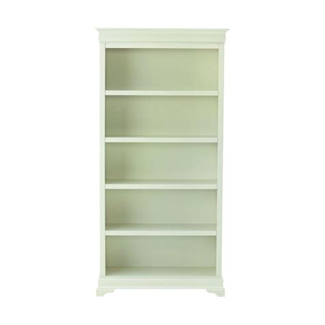 bookshelves home depot home decorators collection louis philippe polar white open