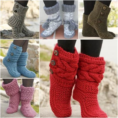 free knit slipper boot pattern adorable crocodile stitch crochet booties pattern