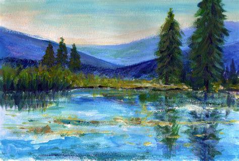 acrylic painting landscape priti lathia s more acrylic practice