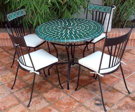 table mosa 239 que table fer forg 233 votre table mosa 239 que ronde ou rectangulaire en c 233 ramique