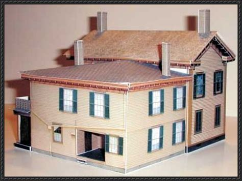 paper craft home new paper model abraham lincoln home free building paper