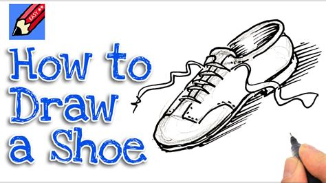 how to draw shoes how to draw a shoe real easy spoken tutorial