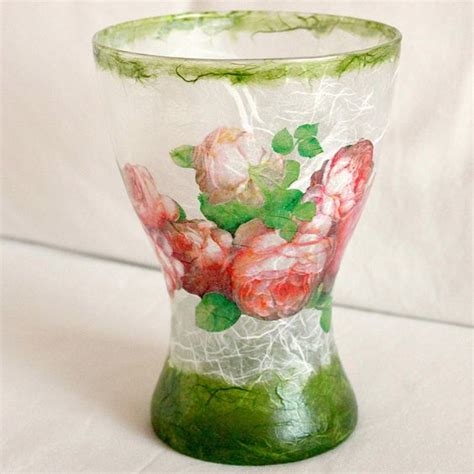 decoupage vase ideas glass vase decoupage with mullberry paper decoupage