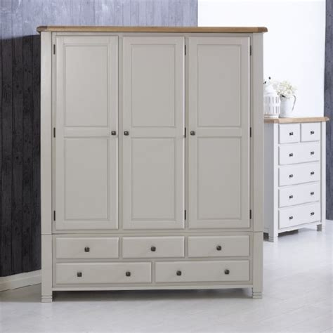 bedroom furniture doors and drawer fronts barista wooden wardrobe in grey with 3 doors and 5 drawers