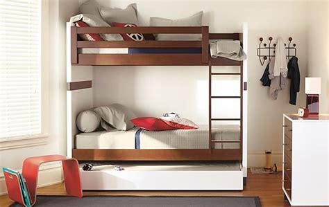 room and board bunk bed moda bunk bed in mocha modern