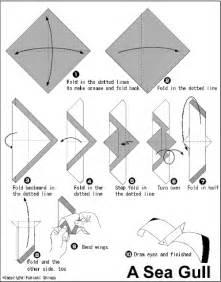 origami seagull origami
