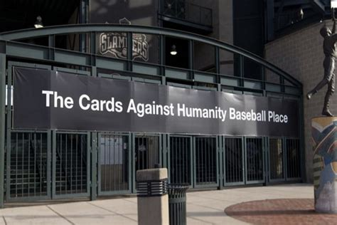 make cards against humanity cards against humanity renamed a baseball stadium