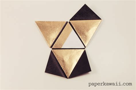 origami cool stuff modular origami pyramid box tutorial paper kawaii