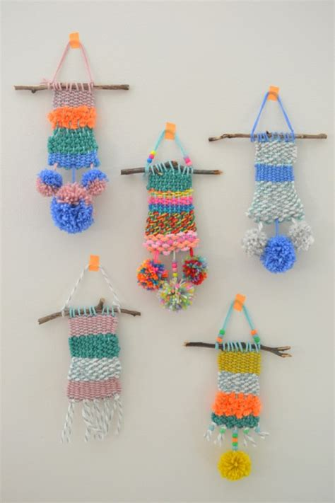 weaving crafts for diy weaving with yarn crafts with wall