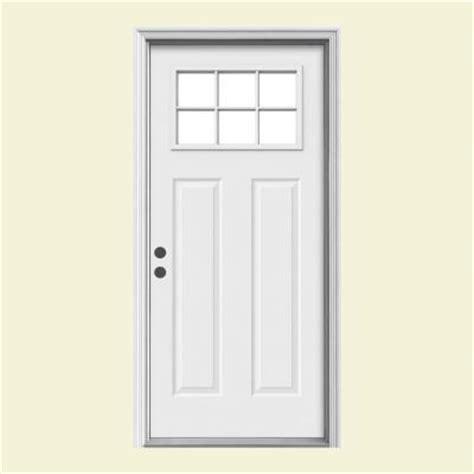 front doors home depot jeld wen 36 in x 80 in craftsman 6 lite primed steel