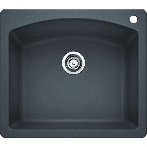 kitchen sink expression blanco dual mount granite composite 25 in 1