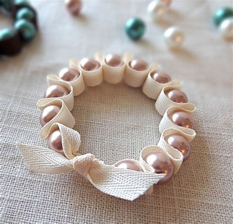 how to make ribbon jewelry make pearl ribbon bracelets