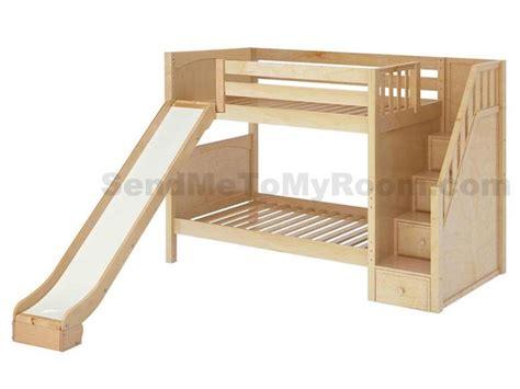 bunk bed with slide maxtrix stellar medium bunk bed with