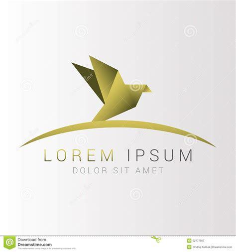 origami bird logo origami bird logo abstract vector illustration stock