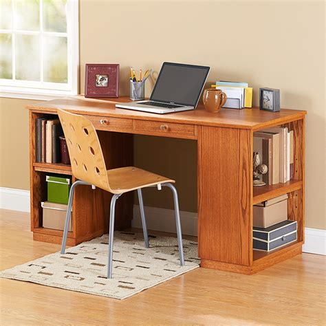 study desk build to suit study desk woodworking plan from wood magazine