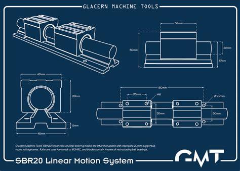 Blueprint Symbols glacern machine tools linear rails and bearings