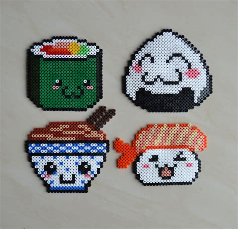 hama food kawaii food hama by crea perles 82 perler