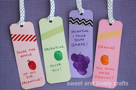bookmark crafts for sweet and lovely crafts thumbprint bookmarks