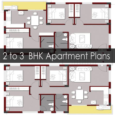 2 floor building plan apartment building floor plans for 2 or 3 bhk flats on a