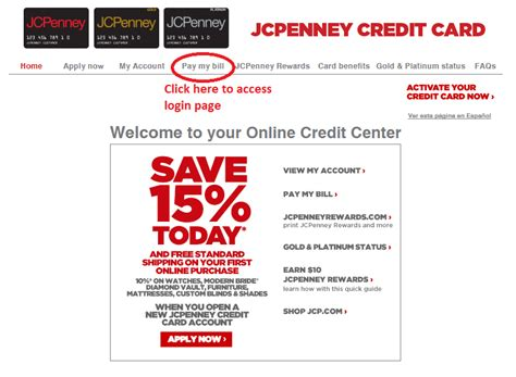 how to make a payment to a credit card jcpenney credit card payment login