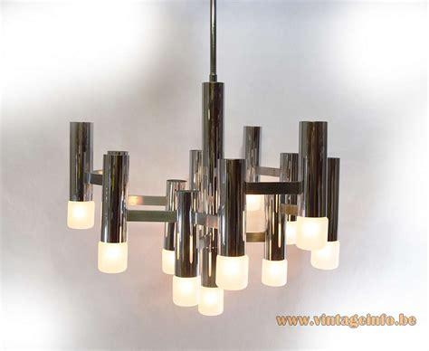 chrome chandelier gaetano sciolari chromed chandelier vintage info all