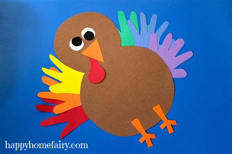 turkey arts and crafts for thankful handprint turkey craft free printable happy