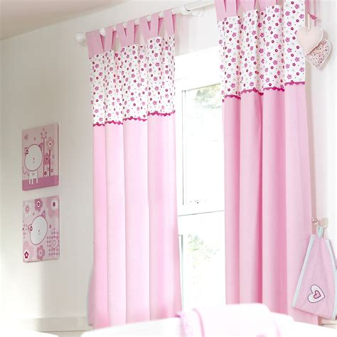 pink curtains nursery luxury baby room decor pink cotton 2 panel nursery