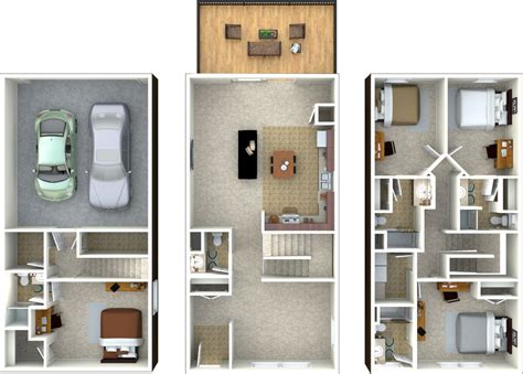 3 bedroom townhouse plans townhouse floor plans three bedroom townhouse floor plans